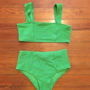 Lime green high waist bikini